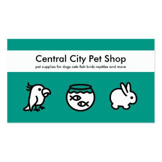 Cartões de visitas simples da loja de animais de