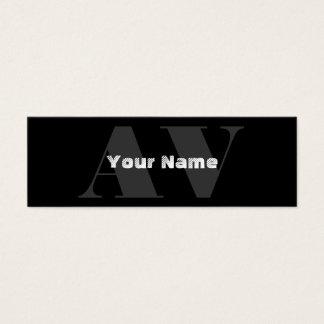 Cartões de visitas simples do monograma