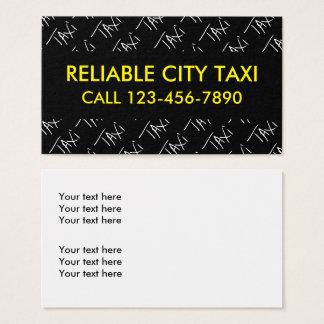 Cartões de visitas simples do taxista