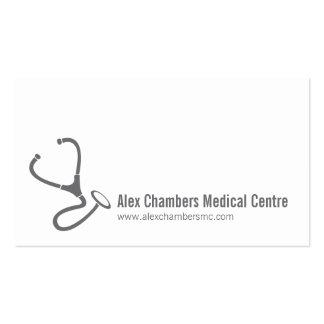 Cartões de visitas simples dos médicos