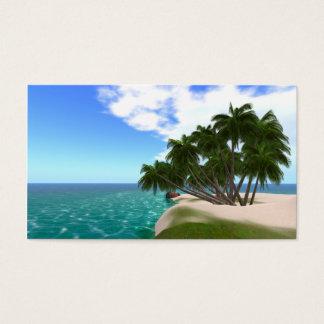 """Cartões de visitas tropicais da ilha 3,5"""" x2.0"""""""