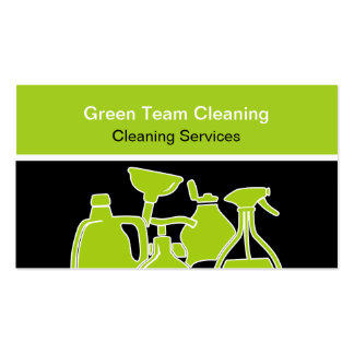 Cartões de visitas verdes da limpeza