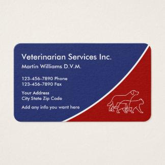Cartões de visitas veterinários animais