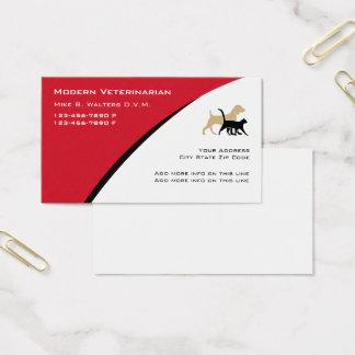 Cartões de visitas veterinários modernos