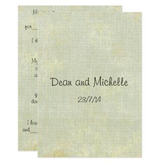 Cartões do comentário do conselho do casamento do convite 12.7 x 17.78cm