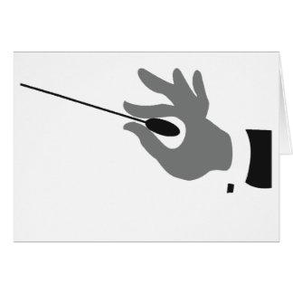 Cartões do condutor de orquestra