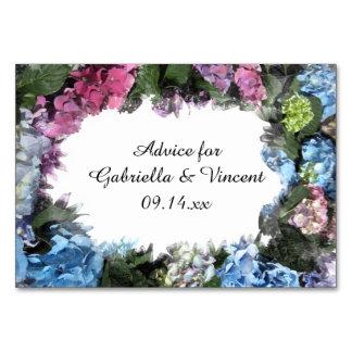 Cartões do conselho do casamento do quadro da flor