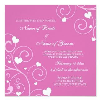 Cartões do convite do casamento da foto do dia dos