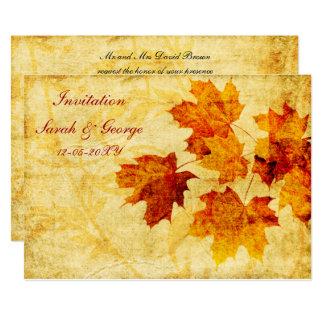 cartões do convite do casamento outono convite 12.7 x 17.78cm