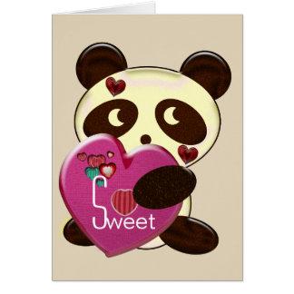 Cartões do dia dos namorados da panda