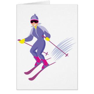 Cartões do esqui