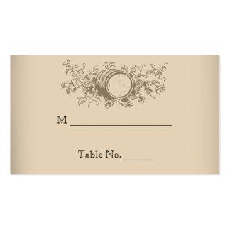 Cartões do lugar do casamento da adega do vintage modelo cartao de visita