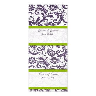 Cartões do lugar do casamento tema damasco do 10.16 x 22.86cm panfleto
