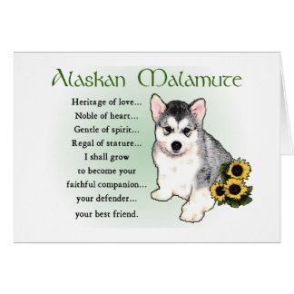 Cartões do Malamute do Alasca