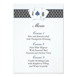 Cartões do menu do casamento de Las Vegas