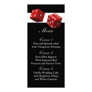 Cartões do menu do casamento de Las Vegas Panfleto Informativo Personalizado