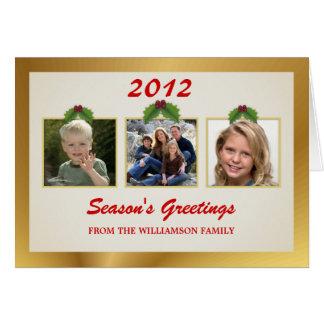 Cartões do modelo dos cartões de natal 3-Photo