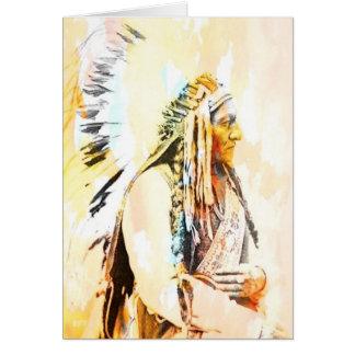 Cartões do nativo americano do assento Bull