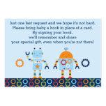 Cartões do pedido do livro do robô/bot do bebê modelos cartões de visitas