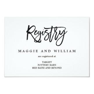 Cartões do registro - encanto escovado