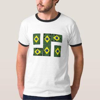 Cartões e dominó do ás de Brasil Camisetas