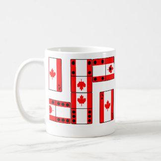 Cartões e dominó do ás de Canadá Caneca De Café