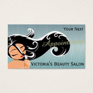 Cartões elegantes da nomeação do cabeleireiro