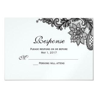 Cartões elegantes da resposta do laço convite 8.89 x 12.7cm