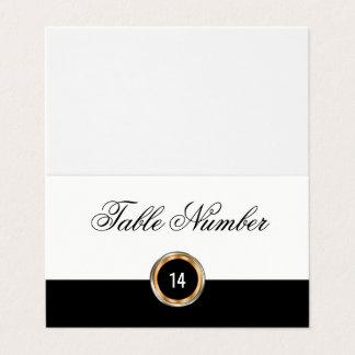 Cartões elegantes do número da mesa do casamento