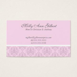 Cartões europeus cor-de-rosa das mamães da