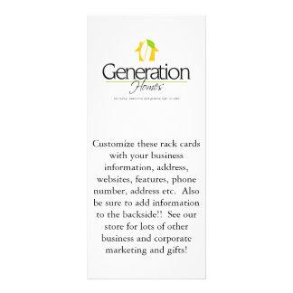 Cartões feitos sob encomenda da cremalheira da pro modelos de panfletos informativos