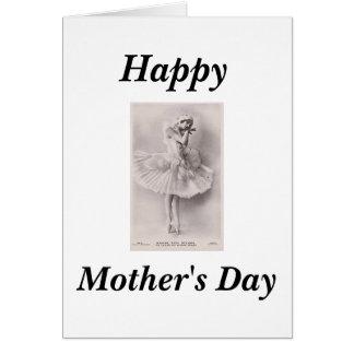 Cartões felizes de Anna Pavlova do dia das mães