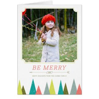 Cartões festivos da foto do feriado da floresta