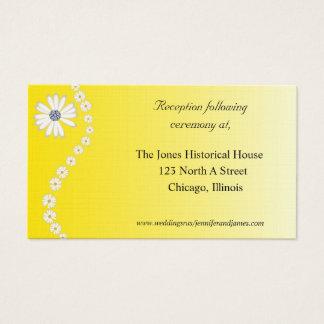 Cartões florais amarelos do cerco do casamento