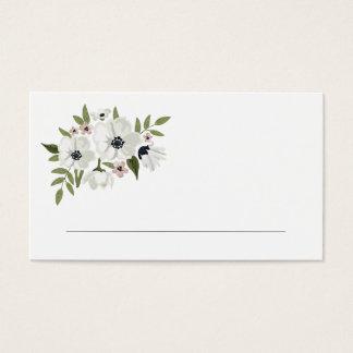 Cartões florais bonitos do lugar