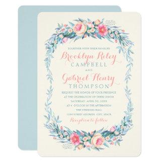 Cartões florais da aguarela dos convites do