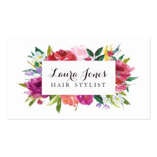 Cartões florais da nomeação do cabeleireiro da cartão de visita