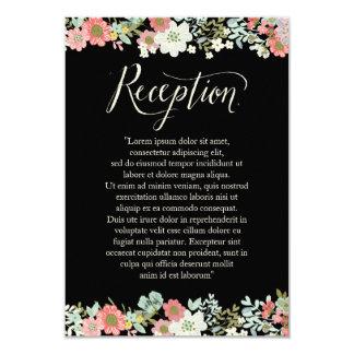 Cartões florais da recepção de casamento da beira convite 8.89 x 12.7cm