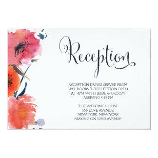 Cartões florais da recepção de casamento da convite personalizado