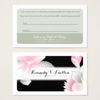 cartões florais da referência do vintage