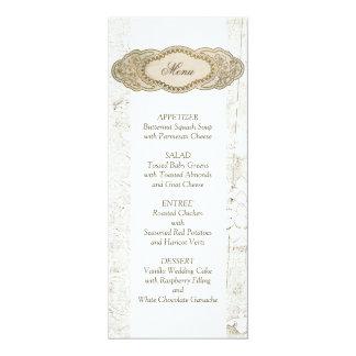 """Cartões florais do menu da recepção de casamento convite 10.16"""" x 23.49cm"""