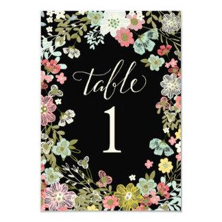 Cartões florais do número da mesa do casamento do convite 8.89 x 12.7cm