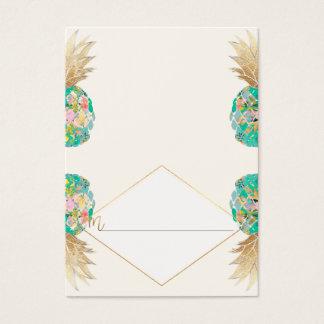 Cartões havaianos do abacaxi/lugar de PixDezines