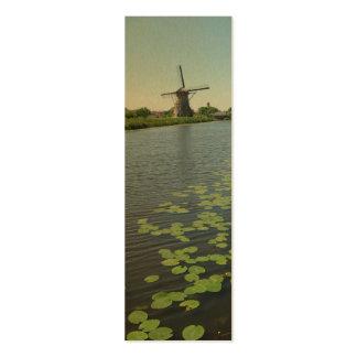 Cartões holandeses do marcador da foto do canal de cartão de visita skinny