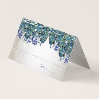 Cartão De Mesa Cartões Luxe rústicos do lugar do marinho rústico