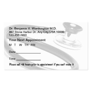 Cartões médicos da nomeação cartão de visita