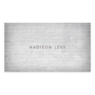 Cartões minimalistas brancos da nomeação da parede cartão de visita
