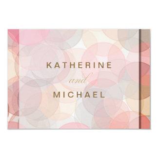 Cartões minimalistas modernos da resposta do convite 8.89 x 12.7cm