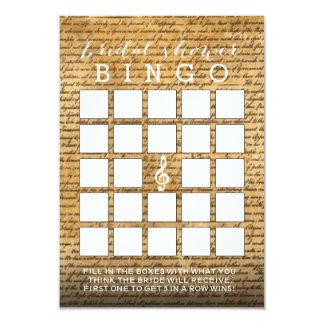 Cartões musicais do Bingo do chá de panela do Convite 8.89 X 12.7cm