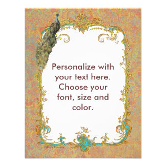 Cartões ornamentado do convite da arte do pavão n